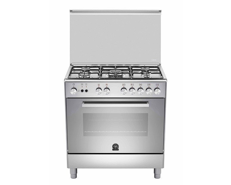 La Germania Cooker 5 Gas Burners 50x80 Stainless with Grill
