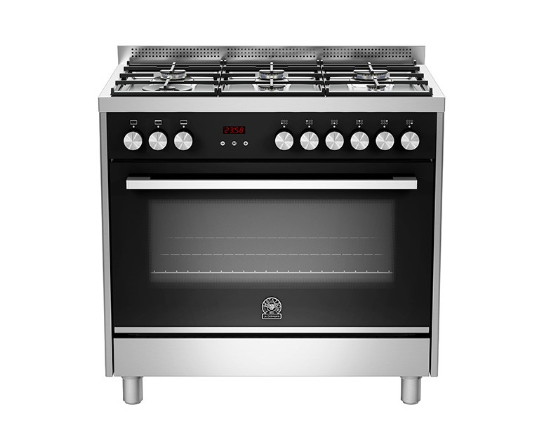La Germania Cooker 6 Gas Burners 90x60 Stainless with Fan