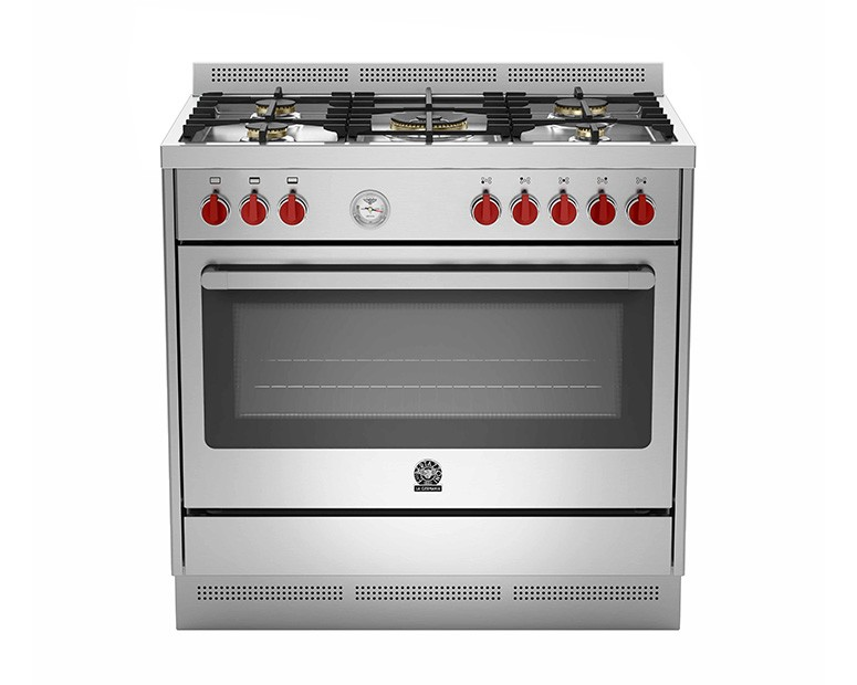 La Germania Cooker Prima 5 Gas Burners size 90x60 with 2 Fan