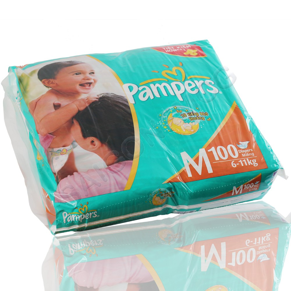 Pampur Diapers M- 100